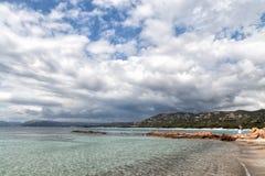 海滩在可西嘉岛 免版税图库摄影