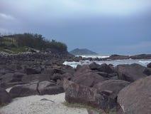 海滩在圣卡塔琳娜州,巴西 图库摄影