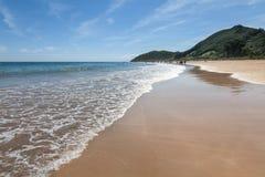 海滩在坎塔布里亚 免版税图库摄影