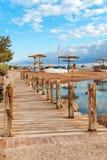海滩在埃及 免版税库存照片