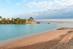 海滩在埃及 库存图片