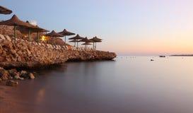 海滩在埃及 图库摄影