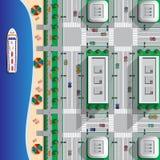海滩在城市 免版税图库摄影