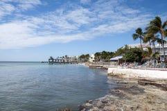 海滩在基韦斯特岛,佛罗里达 库存图片