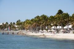海滩在基韦斯特岛,佛罗里达 免版税库存图片