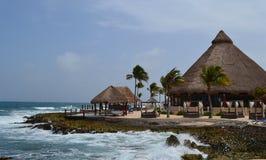 海滩在墨西哥 库存照片