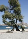 海滩在夏天晴天 库存图片