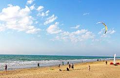 海滩在夏天 库存照片