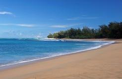 海滩在夏威夷,美国 库存照片