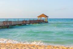 海滩在多米尼加共和国 免版税库存照片
