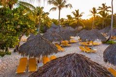 海滩在多米尼加共和国 图库摄影