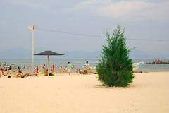 海滩在大亚湾,惠州,中国 免版税库存图片
