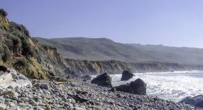 海滩在大瑟尔加利福尼亚 免版税图库摄影