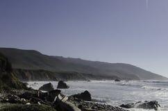 海滩在大瑟尔加利福尼亚 库存照片