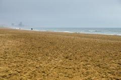 海滩在奥斯坦德,比利时 免版税库存图片
