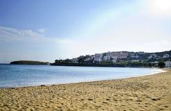 海滩在安德罗斯希腊 库存图片