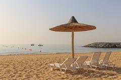 海滩在富查伊拉 库存图片