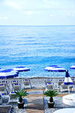 海滩在尼斯城市,南法国 免版税库存照片