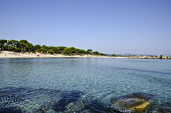 海滩在希腊 免版税库存图片