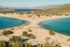 海滩在希腊 库存照片