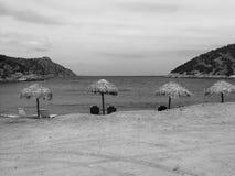 海滩在希腊 免版税库存照片