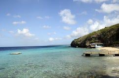 海滩在库拉索岛海岛,加勒比海 免版税库存图片