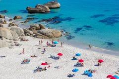 海滩在开普敦,南非 免版税库存图片