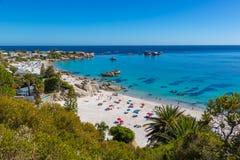 海滩在开普敦,南非 免版税库存照片