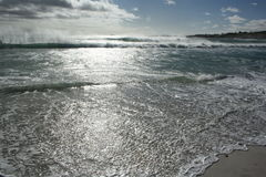 海滩在开普敦 免版税库存照片