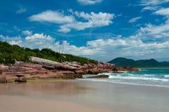 海滩在弗洛里亚诺波利斯,巴西 库存图片