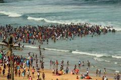 海滩在德班,南非 免版税库存照片