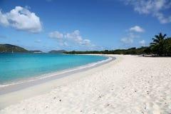 海滩在托尔托拉岛, BVI 图库摄影