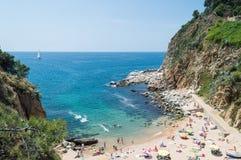海滩在托萨德马尔,肋前缘Brava,西班牙 免版税库存照片