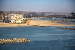 海滩在拉巴特,摩洛哥 免版税库存图片