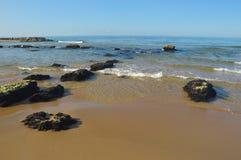 海滩在斯佩尔隆加,意大利 库存照片