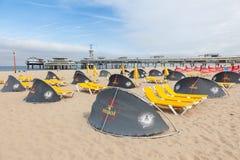 海滩在斯海弗宁恩,荷兰 免版税图库摄影