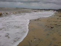 海滩在早晨 免版税图库摄影