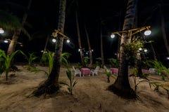 海滩在晚上 免版税图库摄影