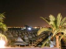 海滩在晚上 图库摄影