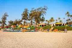 海滩在果阿,印度 免版税图库摄影