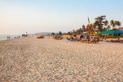 海滩在果阿,印度 免版税库存图片