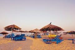 海滩在果阿 免版税库存照片