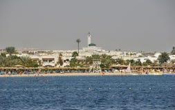 海滩在沙姆沙伊赫 埃及 免版税库存图片