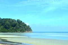 海滩在波德申马来西亚 免版税图库摄影
