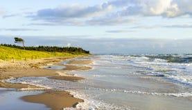 海滩在波罗的海的德国 库存照片