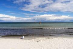 海滩在波罗的海的德国 图库摄影
