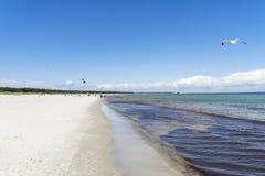 海滩在波罗的海的德国 库存图片