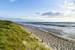 海滩在波罗的海的德国 免版税图库摄影