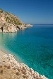 海滩在海岛喀帕苏斯岛的Kira Panagia, 库存图片