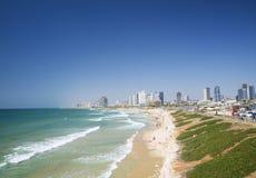 海滩在特拉唯夫以色列 免版税库存图片